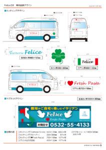 車両カッティング,Felice,キッチンカー